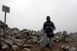 Eu no topo - Trilha Salkantay - Machu Picchu