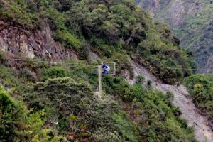 Teleférico - Trilha Salkantay - Machu Picchu